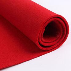 Red Felt Fabric 01