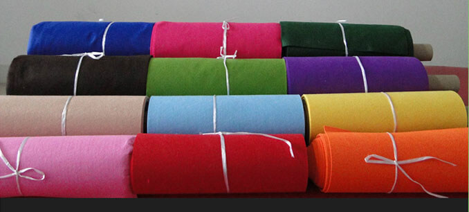 Needle punched non woven polyester felt