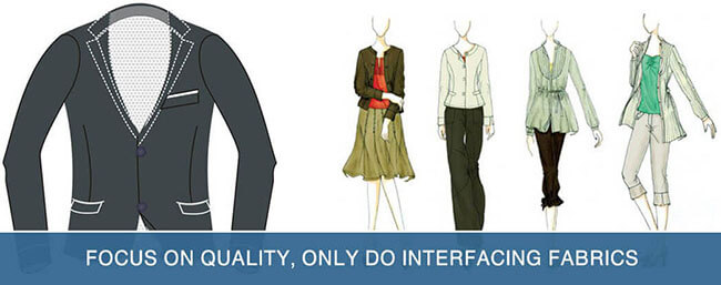 interlining widely used in clothing