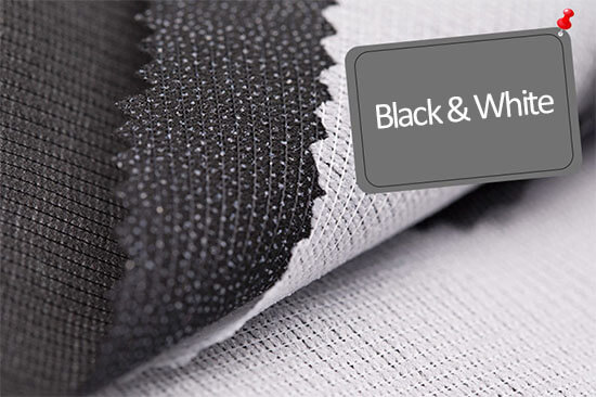 black and white tricot fusing for children's wear details