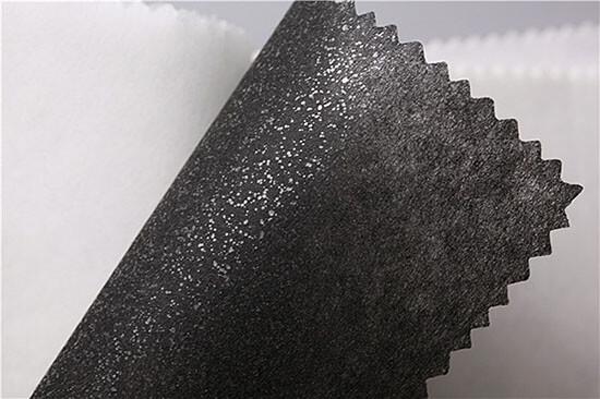 black fusible backing fabric