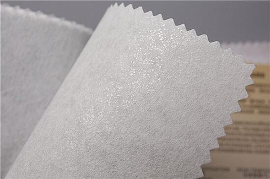 white fusible backing fabric