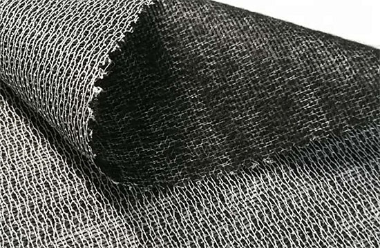 black fusible weft interfacing