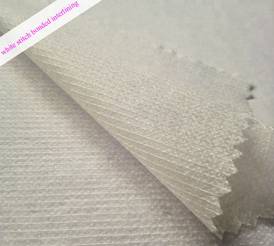 white stitch bonded interlining