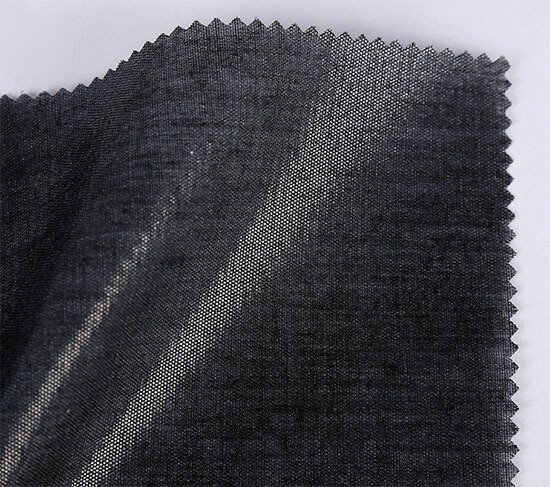 black shirt collar interfacing