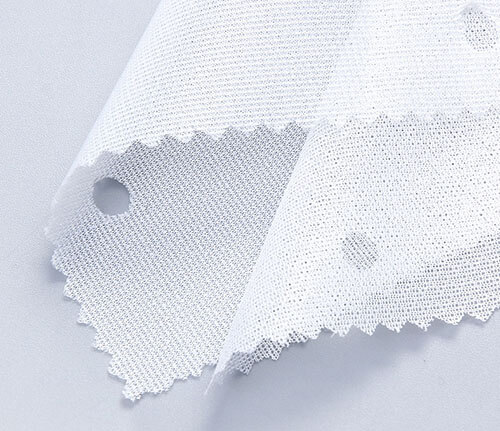 white elastic circular knitted interlining