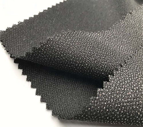 black woven fusible interlining